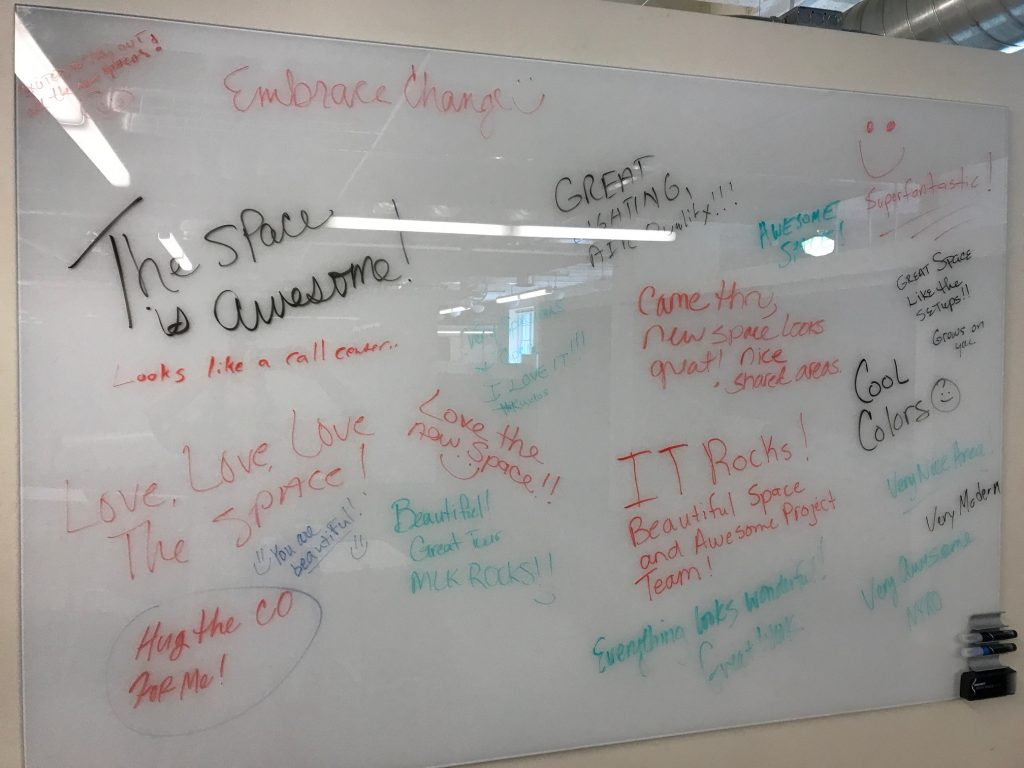 Transforming Workspaces With the GSA Team in Atlanta - Employee Recognition Board